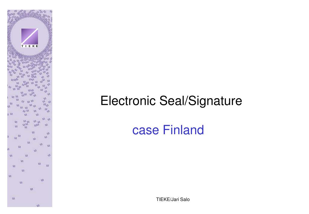 Electronic Seal/Signature