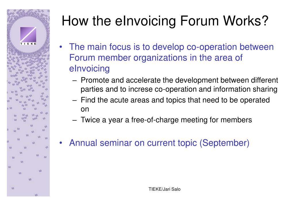 How the eInvoicing Forum Works?