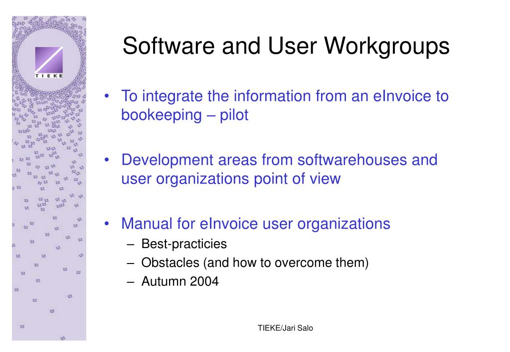 Software and User Workgroups