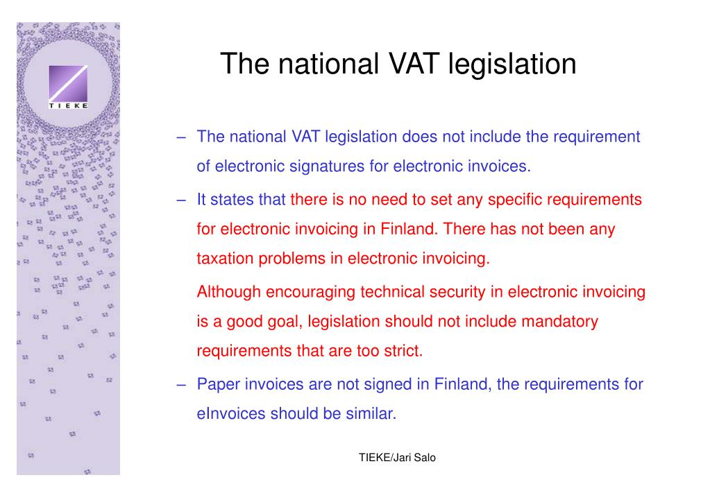 The national VAT legislation