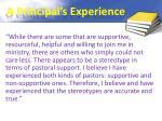 a principal s experience
