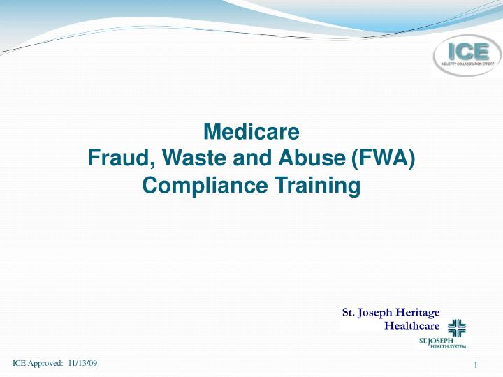medicare fraud waste and abuse fwa compliance training n.