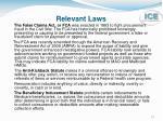 relevant laws