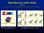 algorithms for point clouds guibas