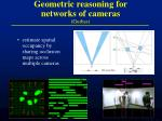 geometric reasoning for networks of cameras guibas