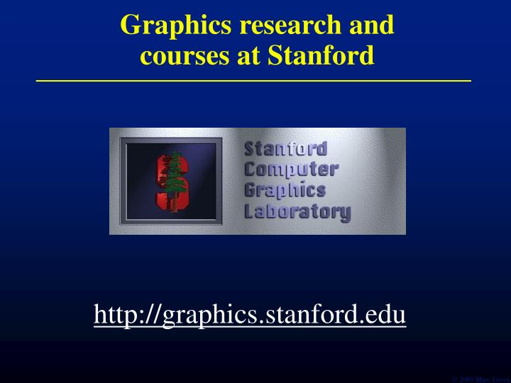 graphics research and courses at stanford n.