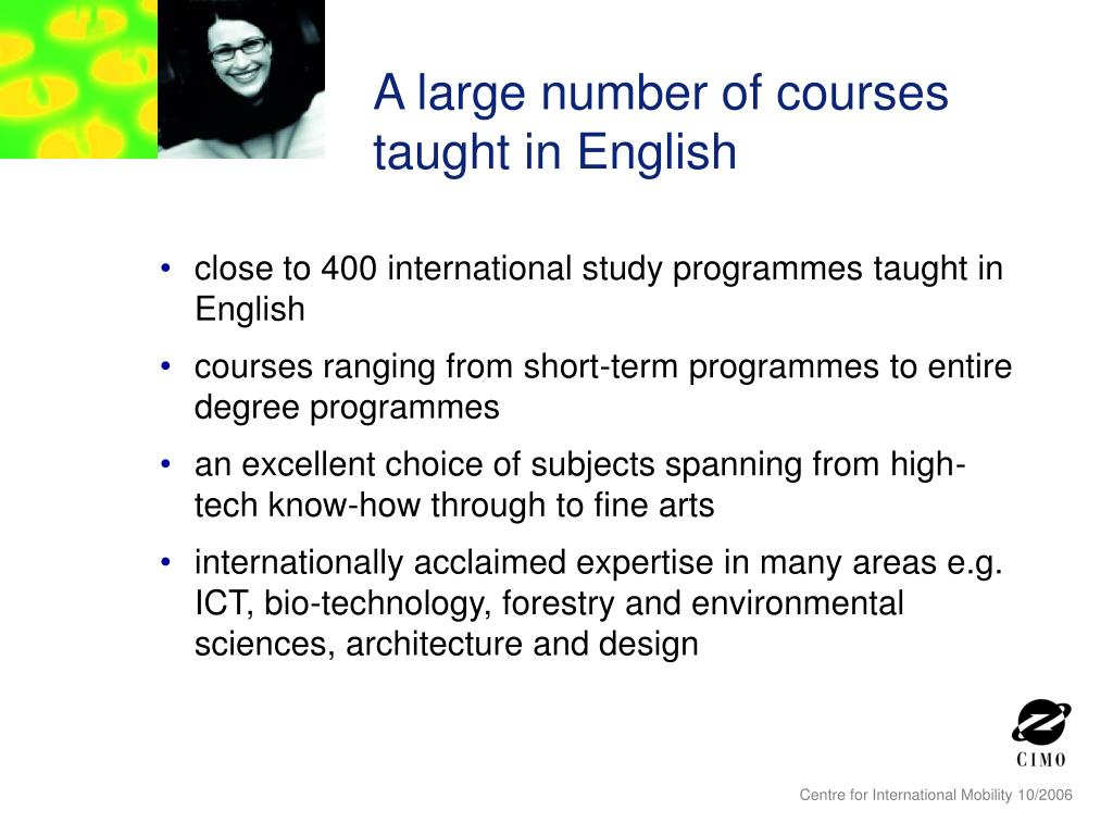 A large number of courses