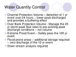 water quantity control