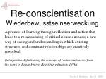 re conscientisation