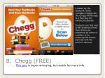 8 chegg free