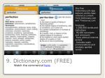 9 dictionary com free