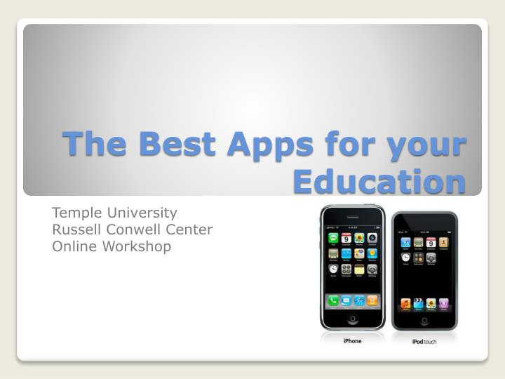 the best apps for your education n.
