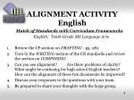 alignment activity english