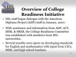 overview of college readiness initiative