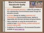 what is environmental education air quality education