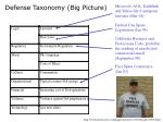 defense taxonomy big picture1