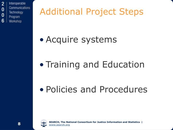 Additional Project Steps