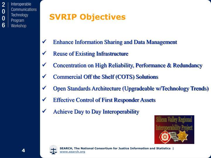 SVRIP Objectives