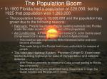 the population boom