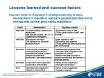 lessons learned and success factors10
