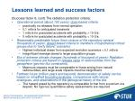 lessons learned and success factors11