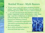 bottled water myth busters