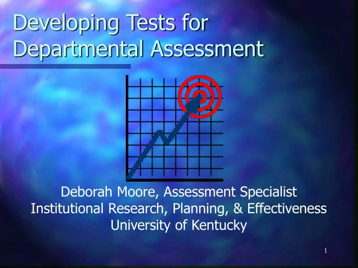 developing tests for departmental assessment n.
