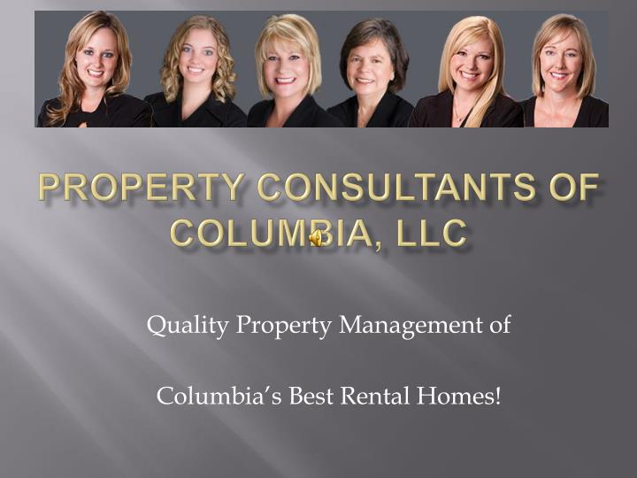 property consultants of columbia llc n.