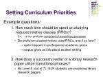 setting curriculum priorities