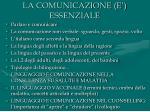 la comunicazione e essenziale
