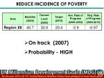 reduce incidence of poverty