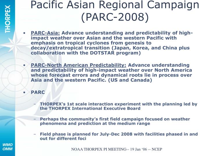 pacific asian regional campaign parc 2008 n.