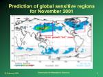 prediction of global sensitive regions for november 2001