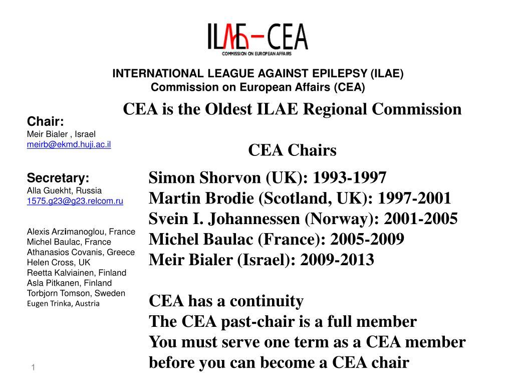 INTERNATIONAL LEAGUE AGAINST EPILEPSY (ILAE)