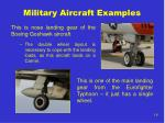 military aircraft examples