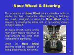 nose wheel steering