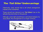 the tail sitter undercarriage