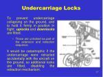 undercarriage locks