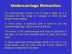 undercarriage retraction