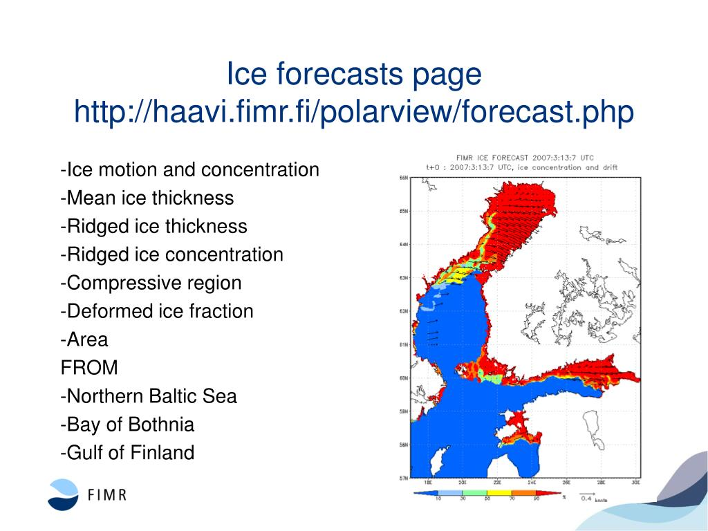 Ice forecasts page
