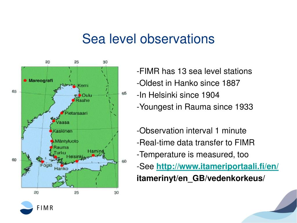 Sea level observations