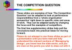 the competition question
