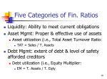 five categories of fin ratios1