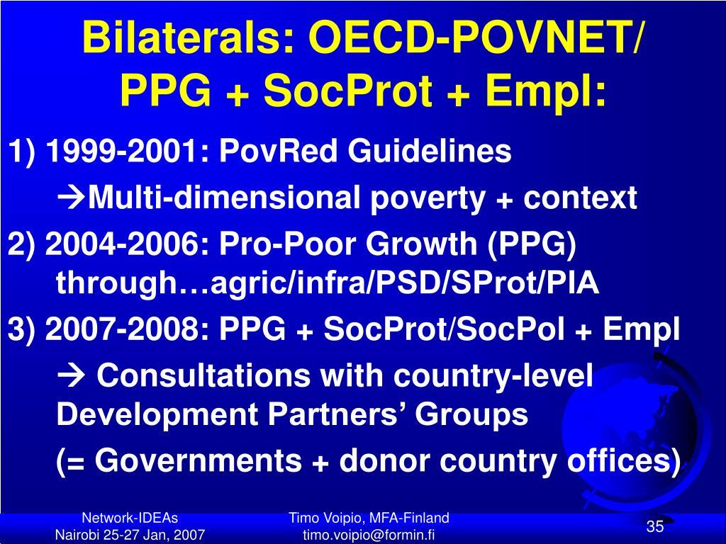 Bilaterals: OECD-POVNET/