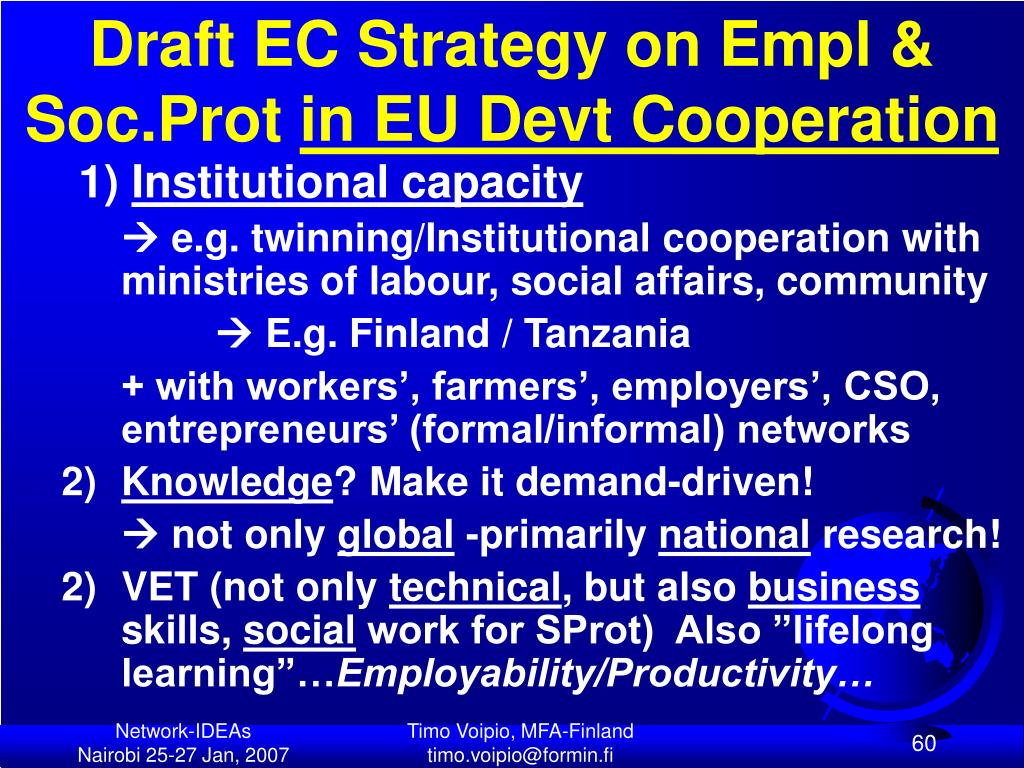 Draft EC Strategy on Empl & Soc.Prot