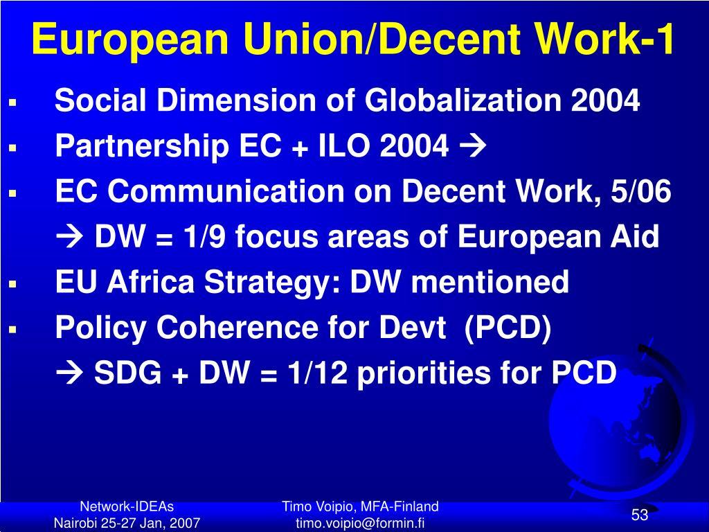 European Union/Decent Work-1