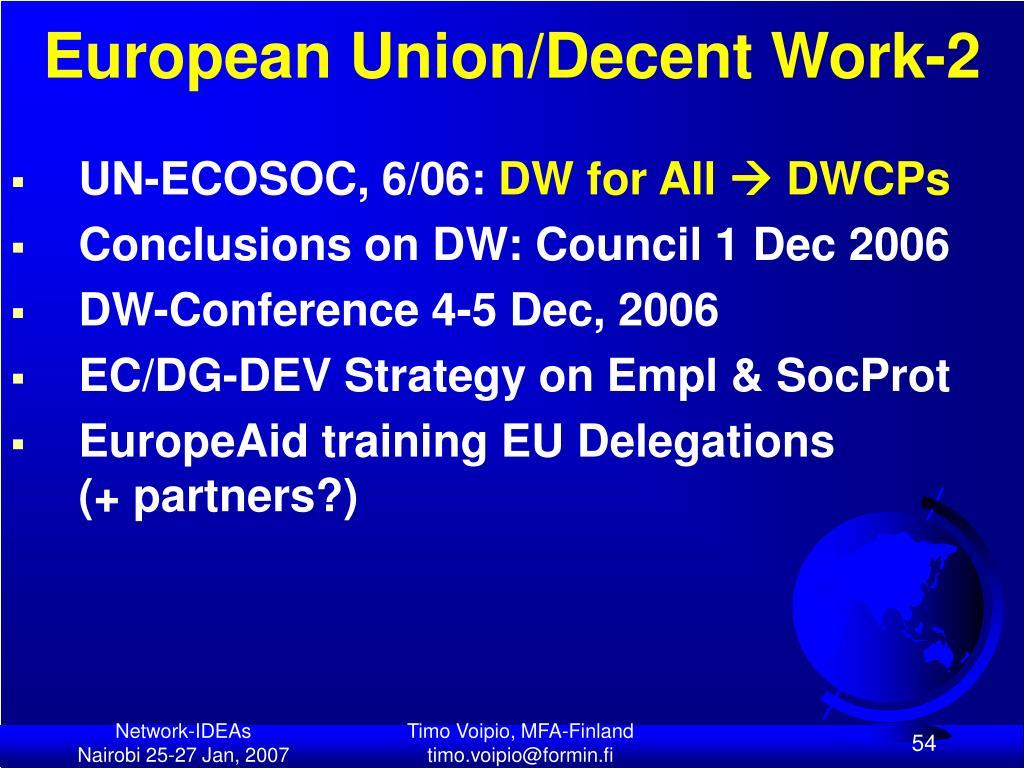 European Union/Decent Work-2