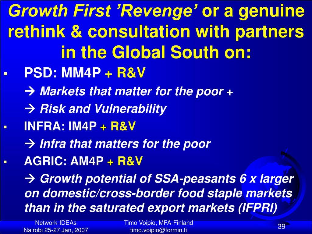 Growth First 'Revenge'