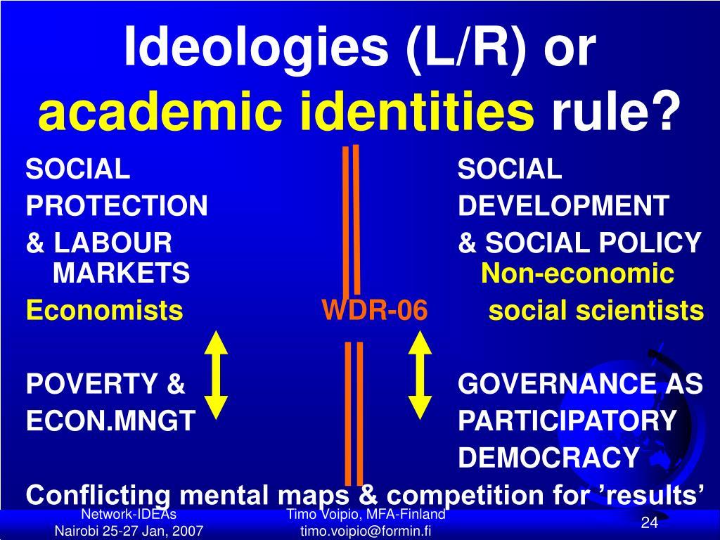 Ideologies (L/R) or