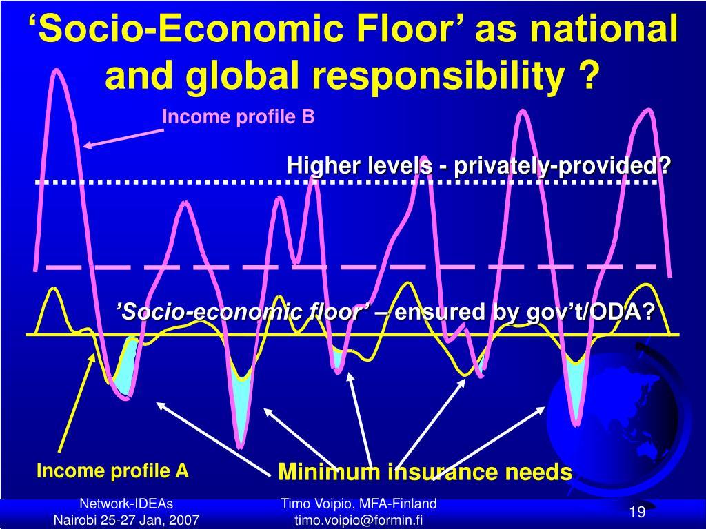 'Socio-Economic Floor' as national and global responsibility ?